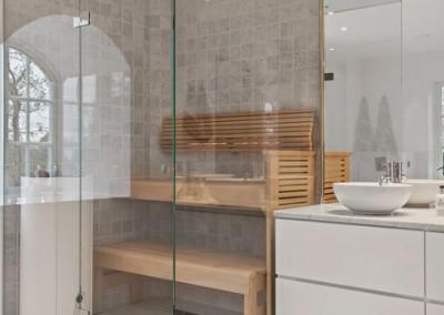 Badrum i villa på Lidingö