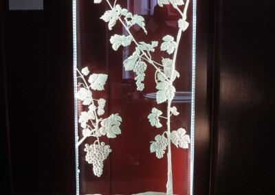 Konstblästrade glas
